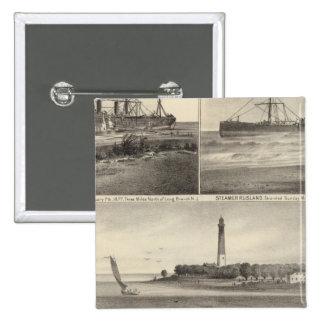 Buque de vapor Amerique de la entrada de Barnegat Pin