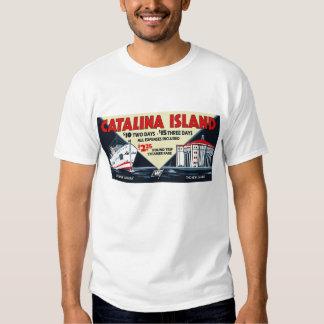 Buque de vapor de la isla de Catalina del vintage Playera