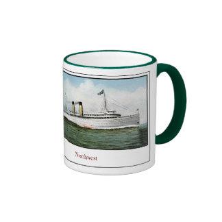 Buque de vapor del noroeste tazas de café