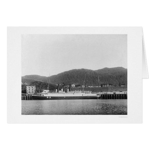 Buque de vapor en Alaska 1920 Felicitacion