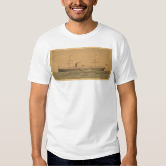 Buque de vapor pacífico Sacramento (1607A) Camisas