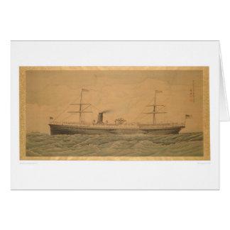 Buque de vapor pacífico Sacramento (1607A) Tarjeta De Felicitación