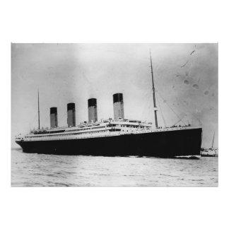 Buque de vapor RMS del trazador de líneas de pasaj Impresion Fotografica