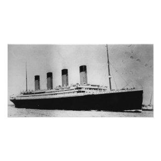 Buque de vapor RMS del trazador de líneas de Tarjeta Fotografica Personalizada