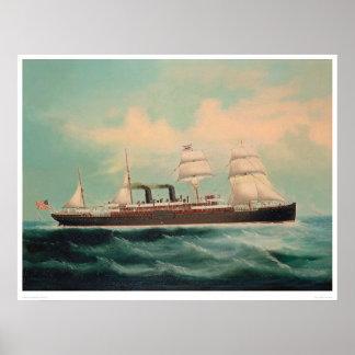 Buque de vapor S.S. China (1614A) Póster
