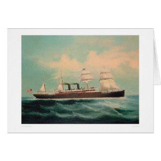 Buque de vapor S.S. China (1614A) Tarjeta De Felicitación