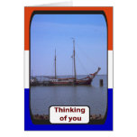 Buque holandés del entrenamiento de la vela, Ijsel Tarjetas