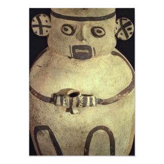 """Buque precolombino de la cerámica, en la forma invitación 5"""" x 7"""""""