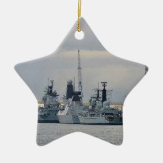 Buques de guerra en Portsmouth Adorno De Cerámica En Forma De Estrella