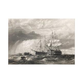 Buques de guerra en Sheerness Lona Envuelta Para Galerías
