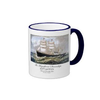 Buques de vapor magníficos taza de café