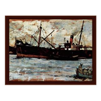 Buques en puerto de Fattori Juan Postales