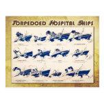 Buques hospital torpedeados en WWI Tarjeta Postal