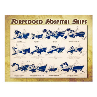 Buques hospital torpedeados en WWI Postales