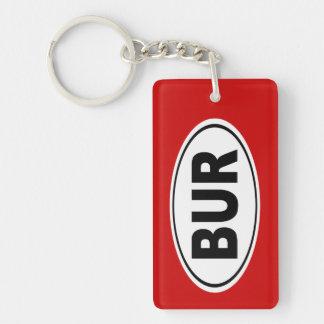 BUR Burlington Massachusetts Keychain