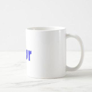 bur classic white coffee mug