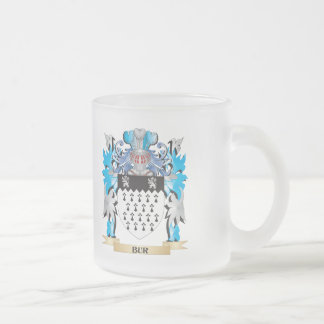Bur Coat of Arms 10 Oz Frosted Glass Coffee Mug