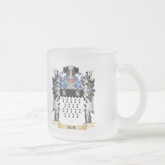 Bur Coat of Arms - Family Crest 10 Oz Frosted Glass Coffee Mug