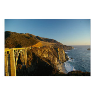 Bur Sur Coastline and Bridge Poster