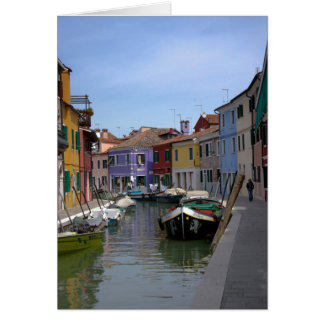 Burano Canal Stationery Note Card
