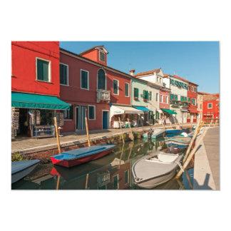 Burano Canal, Venice, Italy Card