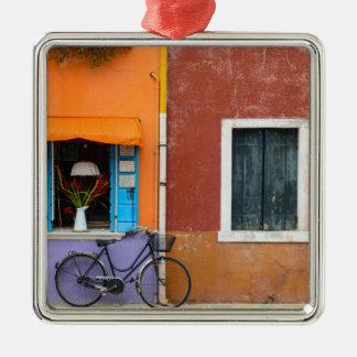 Burano Italy Buildings near Venice Italy Metal Ornament