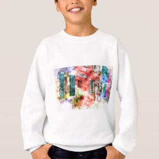 Burano Italy Buildings Sweatshirt