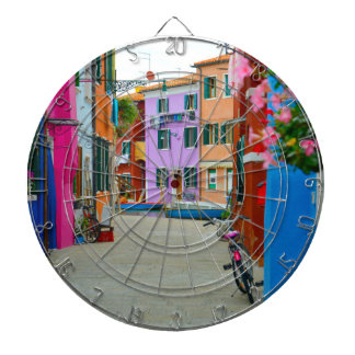 Burano Italy Dartboard With Darts