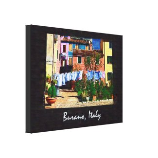 Burano Italy Gallery Wrapped Canvas