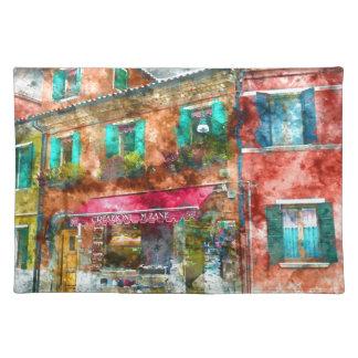 Burano Italy near Venice Italy Cloth Placemat