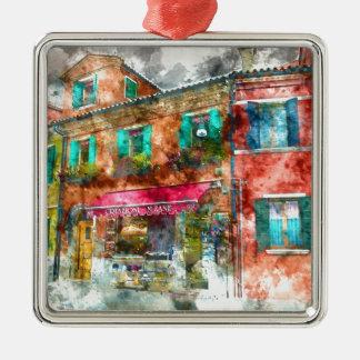 Burano Italy near Venice Italy Metal Ornament