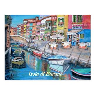 Burano, Italy - Postcard
