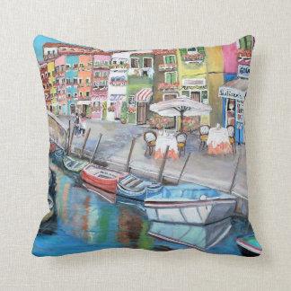 Burano, Italy - Throw Pillow