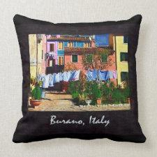Burano Italy Throw Pillows
