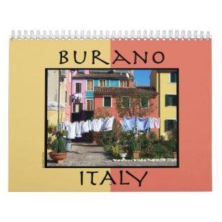 Burano Italy Wall Calendar