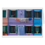 Burano, Venecia Italia Tarjeta