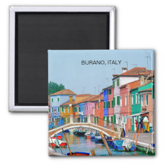 BURANO VENICE, ITALY (MAGNET) 2 INCH SQUARE MAGNET