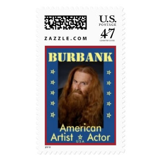 Burbank American Artist Actor Postage Stamp