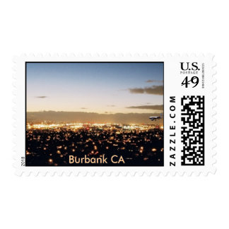 Burbank Arrival, Burbank CA Postage Stamp