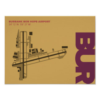 Burbank Bob Hope Airport (BUR) Diagram Poster