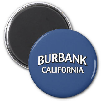 Burbank California 2 Inch Round Magnet