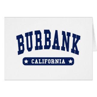 Burbank California College Style t shirts Card