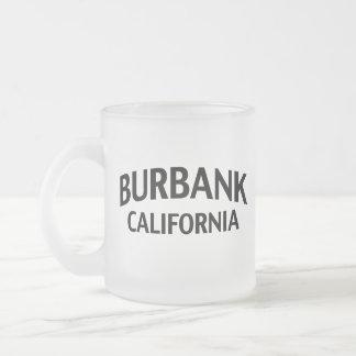 Burbank California Frosted Glass Coffee Mug