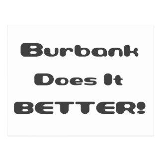 Burbank Does it Better Postcard