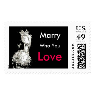 Burbank Marry Who You Love Postage Stamp