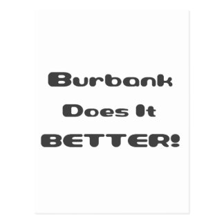 Burbank mejora tarjetas postales