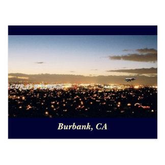 Burbank Nightscape, Burbank, CA Postcard