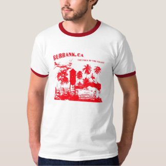 Burbank, Paris Of The Valley (red) T Shirt
