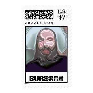 BURBANK Scrued Timbre Postal
