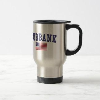 Burbank US Flag Travel Mug